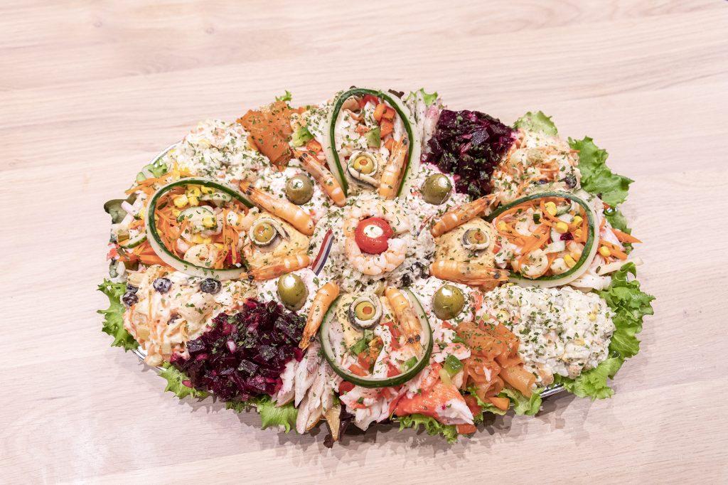 Visschaal salade @thefishlab